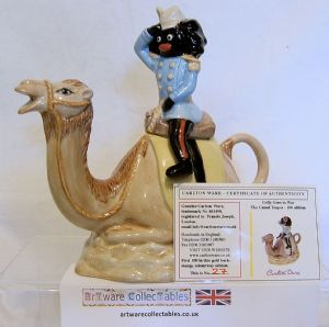 Carlton Ware Golly At War Series - Sitting Astride His Camel - Novelty Teapot - SOLD